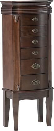 Powell Miscellaneous Jewelry Armoires 358315 Jewelry Armoire Brown, Main Image
