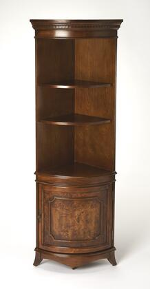 Dowling Collection 3621101 Corner Cabinet with Traditional Style  Quarter Round Shape  Medium Density Fiberboard (MDF) and Cherry Veneer Material in
