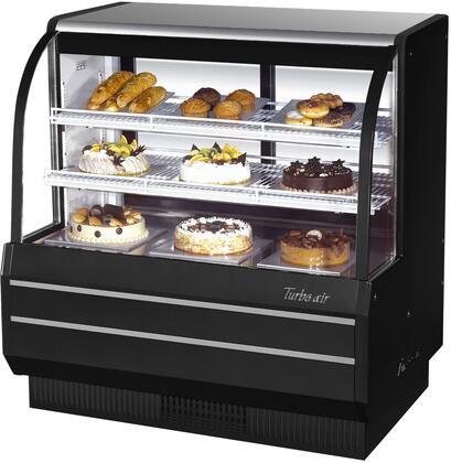 Turbo Air TCGB48DRB Commercial Display Warmer and Merchandising Black, TCGB48DRB Angled View