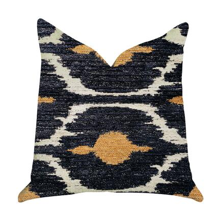 Butternut Collection PBRA1313-2626-DP Double sided  26″ x 26″ Plutus Bohemian Blue and Orange Ikat Luxury Throw