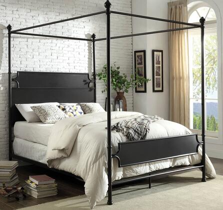 Furniture of America Beatrix CM7424BRBED Bed Brown, 1
