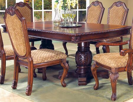 Veronica Collection 2021CHVER Cherry Traditional Style Dining Table In Cherry Finish