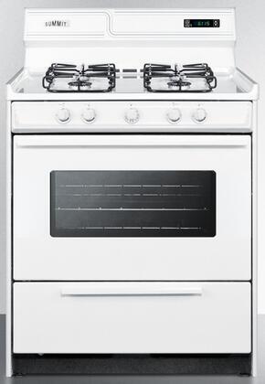 WTM2307KSW 30″ Freestanding Gas Range with 4 Burners  3.7 cu. ft. Oven Capacity  Porcelain Construction  Broiler Compartment  ADA Compliant  in
