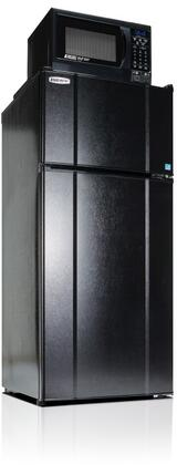 MicroFridge  103LMF49D1X Top Freezer Refrigerator Black, 10.3LMF4-9D1X Refrigeator and Microwave Combo