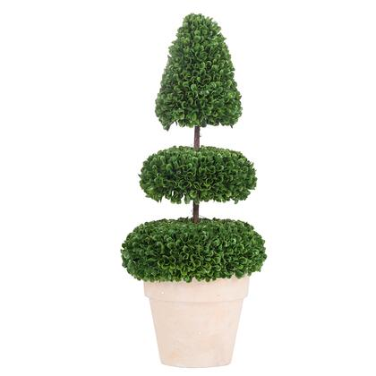 2389-DS Pre-Light Faux Boxwood Topiary In