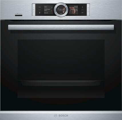 Bosch 500 Series HBE5452UC Single Wall Oven Stainless Steel, Main Image