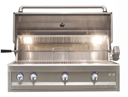 ARTP-42LP 42″ Professional Series Liquid Propane Built in Grill with Three 20 000 BTU Burners  Two Position Warming Racks  Built-In Halogen Light