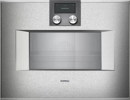 Gaggenau 400 Series BS471612 Single Wall Oven Stainless Steel, Main Image