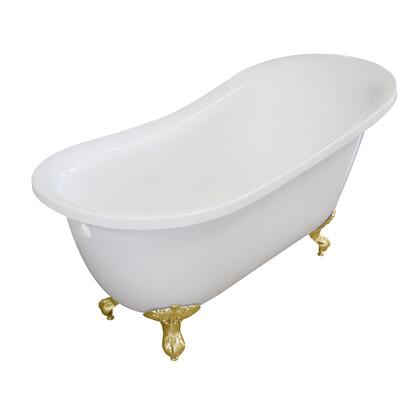 Valley Acrylic Affordable Luxury IMPERIAL155CFWHTGLD Bath Tub White, Main Image