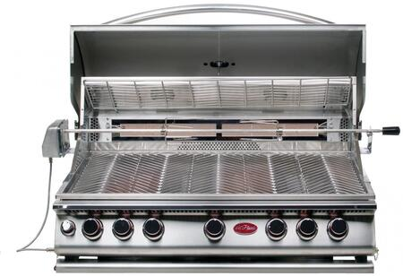 BBQ19875CP Built In Liquid Propane Grill with 5 Burners  Built- In Light  Convection Oven  Conversion Kit  and Independent Ignition  in Stainless