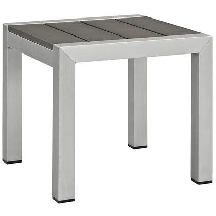 Modway Shore EEI2248SLVGRY Outdoor Patio Table Silver, Main Image
