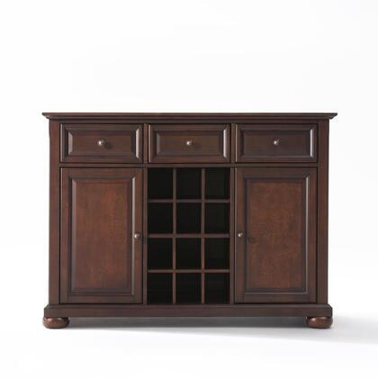 Crosley Furniture Alexandria KF42001AMA Dining Room Buffet Brown, KF42001AMA W1