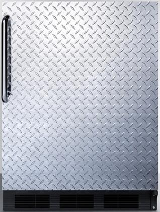 AccuCold FF7BI FF7BBIDPL Compact Refrigerator Stainless Steel, Main Image