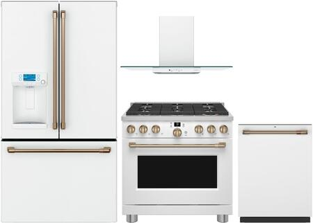 Cafe  1052262 Kitchen Appliance Package Matte White, main image