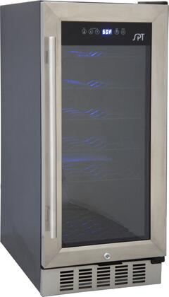 Sunpentown WC31U Wine Cooler 26-50 Bottles Stainless Steel, Stainless Steel Trim and Black Cabinet