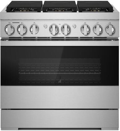 Jenn-Air NOIR JDRP436HM Freestanding Dual Fuel Range Stainless Steel, JDRP436HM 36-INCH DUAL-FUEL PROFESSIONAL RANGE