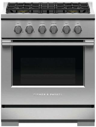 Fisher Paykel Professional RGV3304N Freestanding Gas Range Stainless Steel, RGV3304 Professional Gas Range
