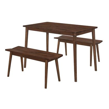 517110 Branson Table And 2 Benches  in Walnut