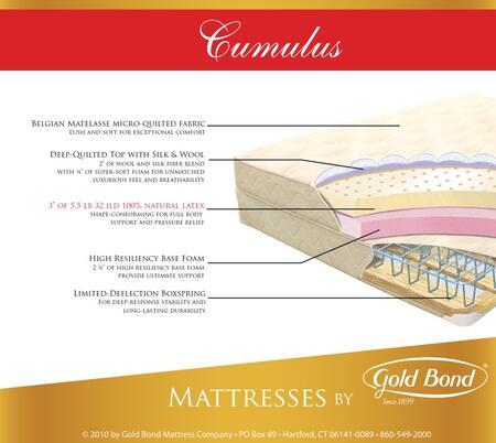 Gold Bond Natural Latex 866CUMULUSSETK Mattress, 1