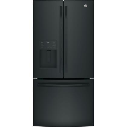 GE GFE24JGKBB French Door Refrigerator Black, Main Image