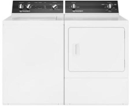 Top Load TR3003WN 26″ Washer with Front Load DR3000WE 27″ Electric Dryer Commercial Laundry Pair in