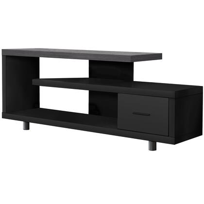 I 2575 Tv Stand – 60″L / Black / Grey Top With 1