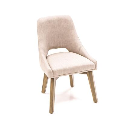 Kensington Collection ZWCMDC20SAV-2X Set of 2 Dining Chairs in Beige