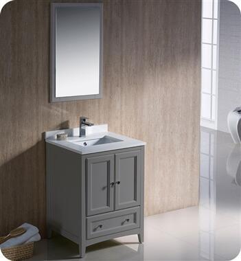Oxford Collection FVN2024GR 24″ Grey Traditional Bathroom
