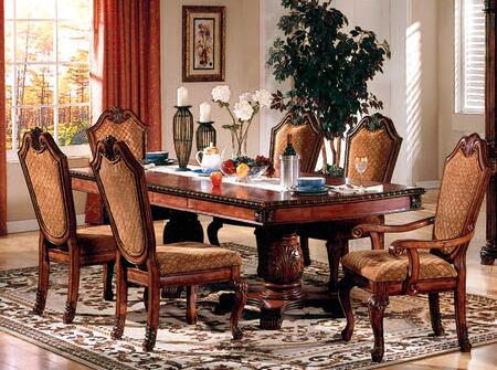Acme Furniture Chateau de Ville 04075CH Dining Room Set Brown, 1
