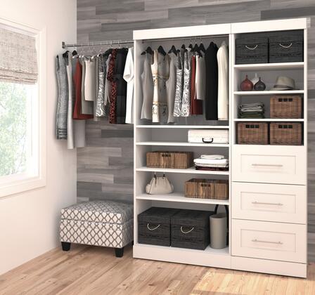 Bestar Furniture Pur Series 2687017 Wardrobe White, Image 1