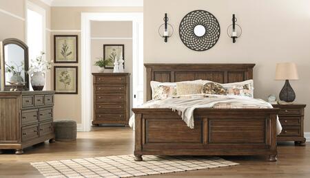 Signature Design by Ashley Flynnter B719QPBDMNC Bedroom Set Brown, Main Image