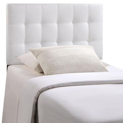 White Modway Furniture Lily Queen Vinyl Headboard MOD-5130-WHI