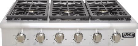 Kucht Professional KRT3618U Gas Cooktop Stainless Steel, Main Image