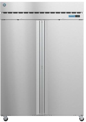 R2A-FS 55″ Steelheart Series Two Section Full Door Reach-In Refrigerator with 50.37 cu. ft. Capacity  6 Adjustable Shelves  4″ Casters and LED