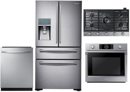Samsung  1011283 Kitchen Appliance Package Stainless Steel, main image