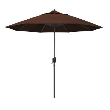 Casa Collection ATA908117-5432 9′ Patio Umbrella With Bronze Aluminum Pole Aluminum Ribs Auto Tilt Crank Lift With Sunbrella 2A Bay Brown