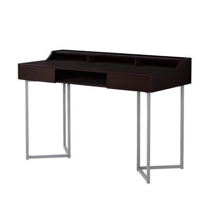 I 7362 Computer Desk – 48″L / Cappuccino / Silver