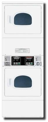 Speed Queen  SSGNCFGW113TW01 Commercial Stacked Dryers White, 1