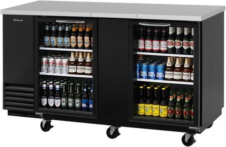 Turbo Air Super Deluxe TBB3SGN Back Bar Cooler Black, TBB3SGN Angled View