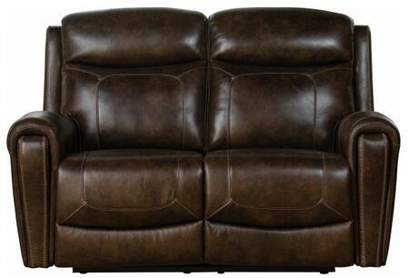 Malibu Collection 29PH3641371386 65″ Power Reclining Loveseat with Power Head Rests and Leather Match Upholstery in Tri-Tone