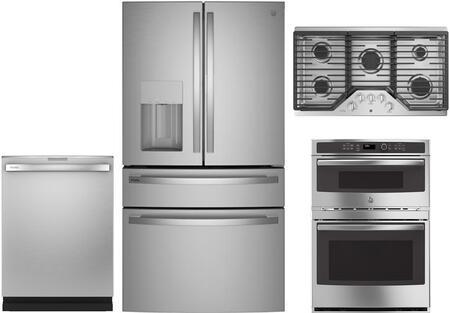 GE Profile 1139055 4 piece Fingerprint Resistant Stainless Steel Kitchen  Appliances Package