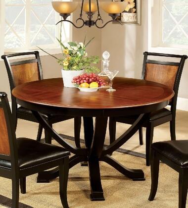 Furniture of America Salida I CM3034RT Dining Room Table Brown, main image