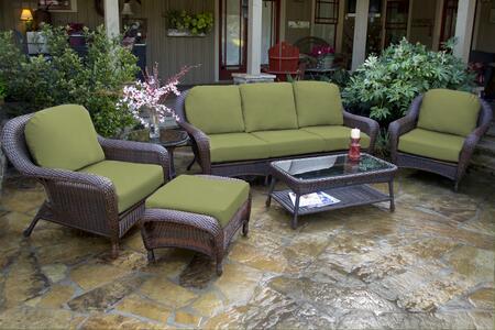 Tortuga Sea Pines LEX651JX Outdoor Patio Set Brown, 1