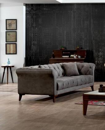 Casa Mare Vega VEGA2SG Loveseat Gray, 1