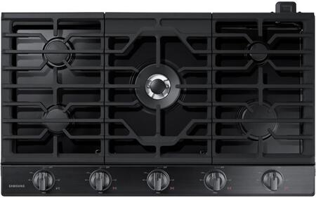Samsung NA36N6555TG 36 Black Stainless 5 Burner Gas Cooktop