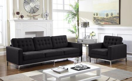 Chic Home Olson FSA2938ACSET Living Room Set Black, Living Room Set