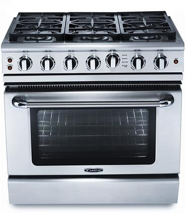 Capital Precision GSCR366L Freestanding Gas Range Stainless Steel, Main Image