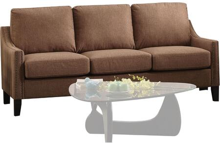 Acme Furniture Zapata Jr 53765 Stationary Sofa Brown, 1