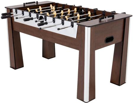 45-6077W 60″ Milan Foosball Table with Brushed Silver Accents and 2 Soccer Balls  Brushed Silver