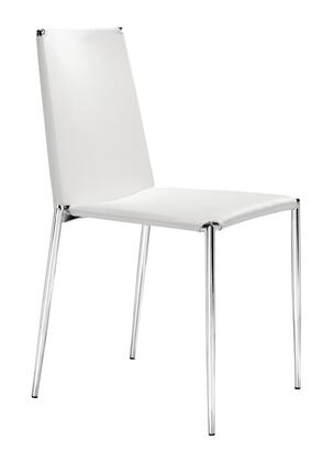 Zuo Alex 101106 Dining Room Chair White, 101106 1